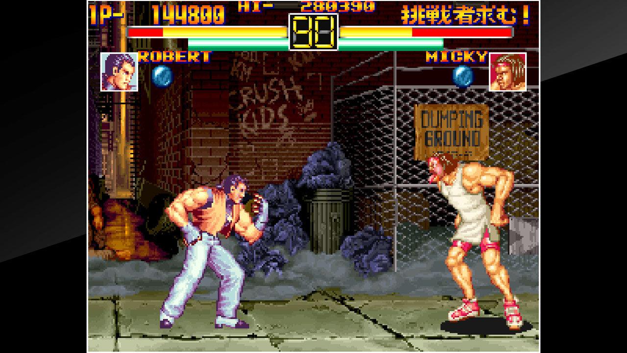 Aca Neogeo Art Of Fighting Game Ps4 Playstation