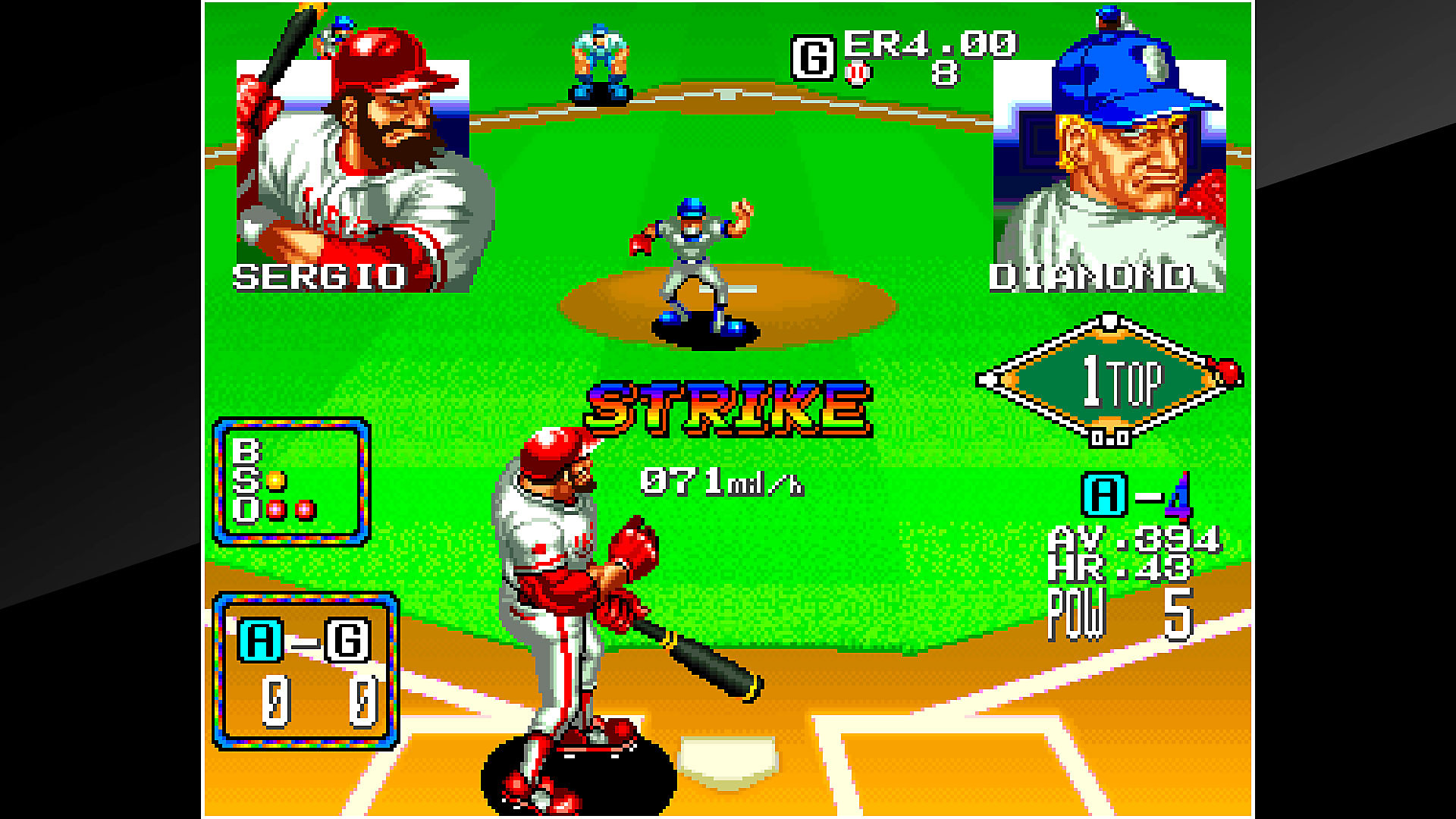 Gameplay de ACA NEOGEO BASEBALL STARS 2