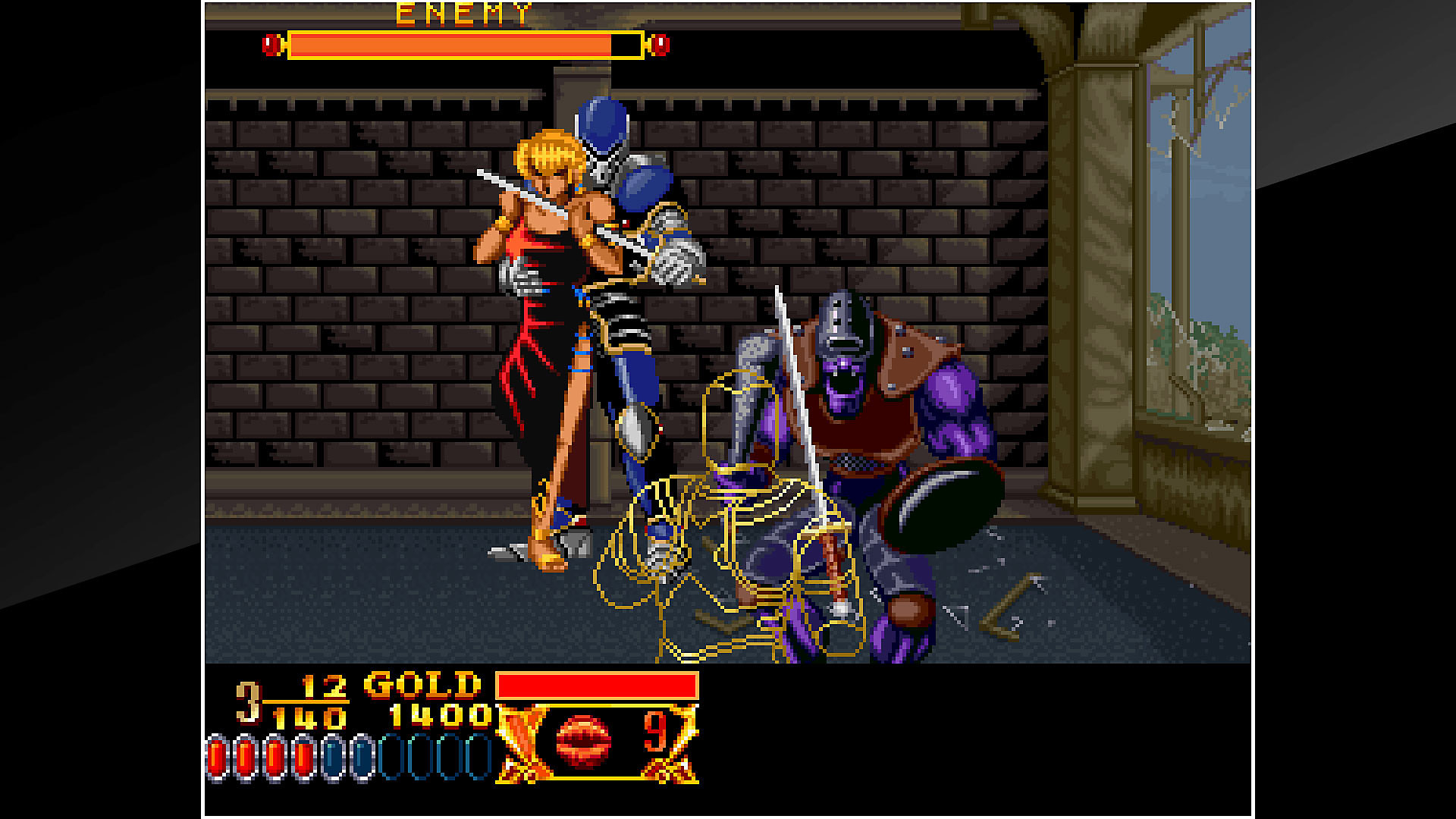 ACA NEOGEO CROSSED SWORDS Gameplay