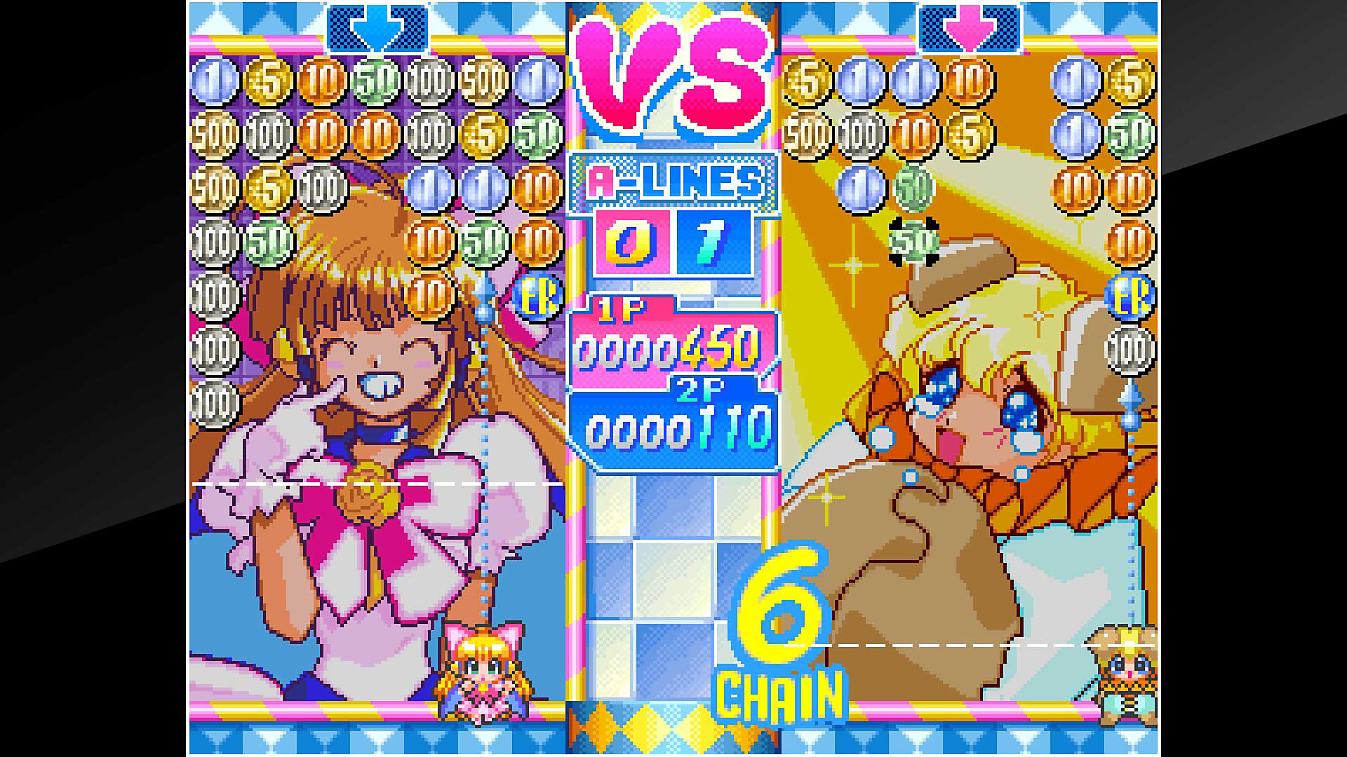 Gameplay de ACA NEOGEO Money Puzzle Exchanger