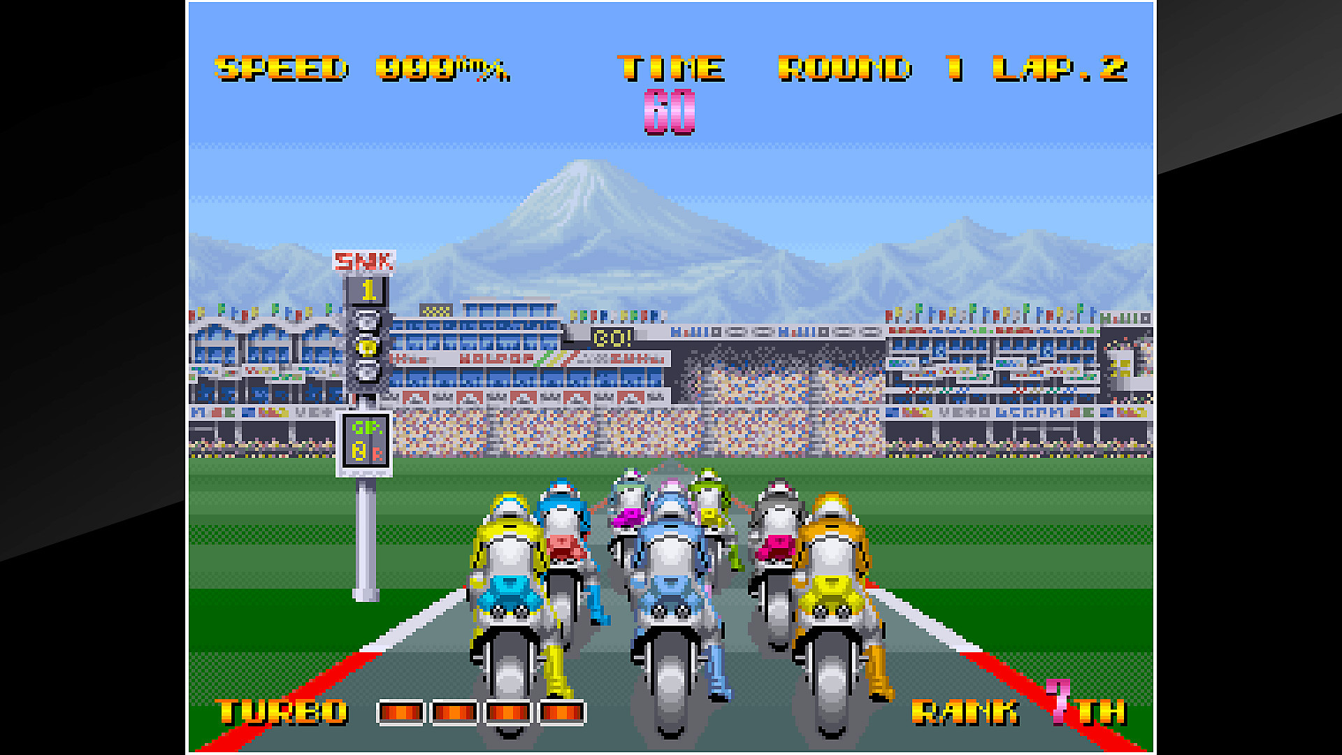 Pantalla del gameplay de ACA NEOGEO RIDING HERO