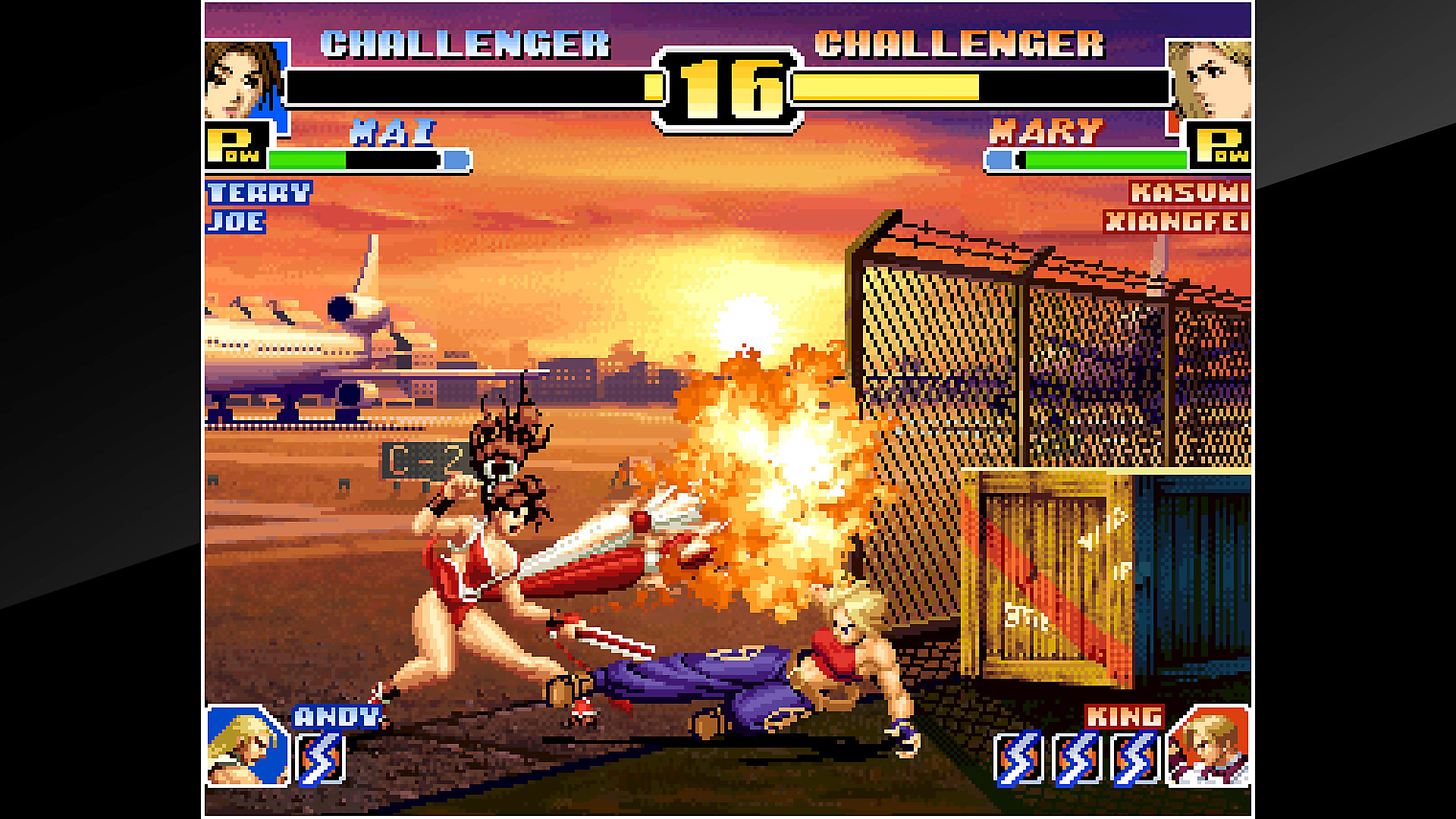 Algumas cenas de ACA NEOGEO THE KING OF FIGHTERS '99