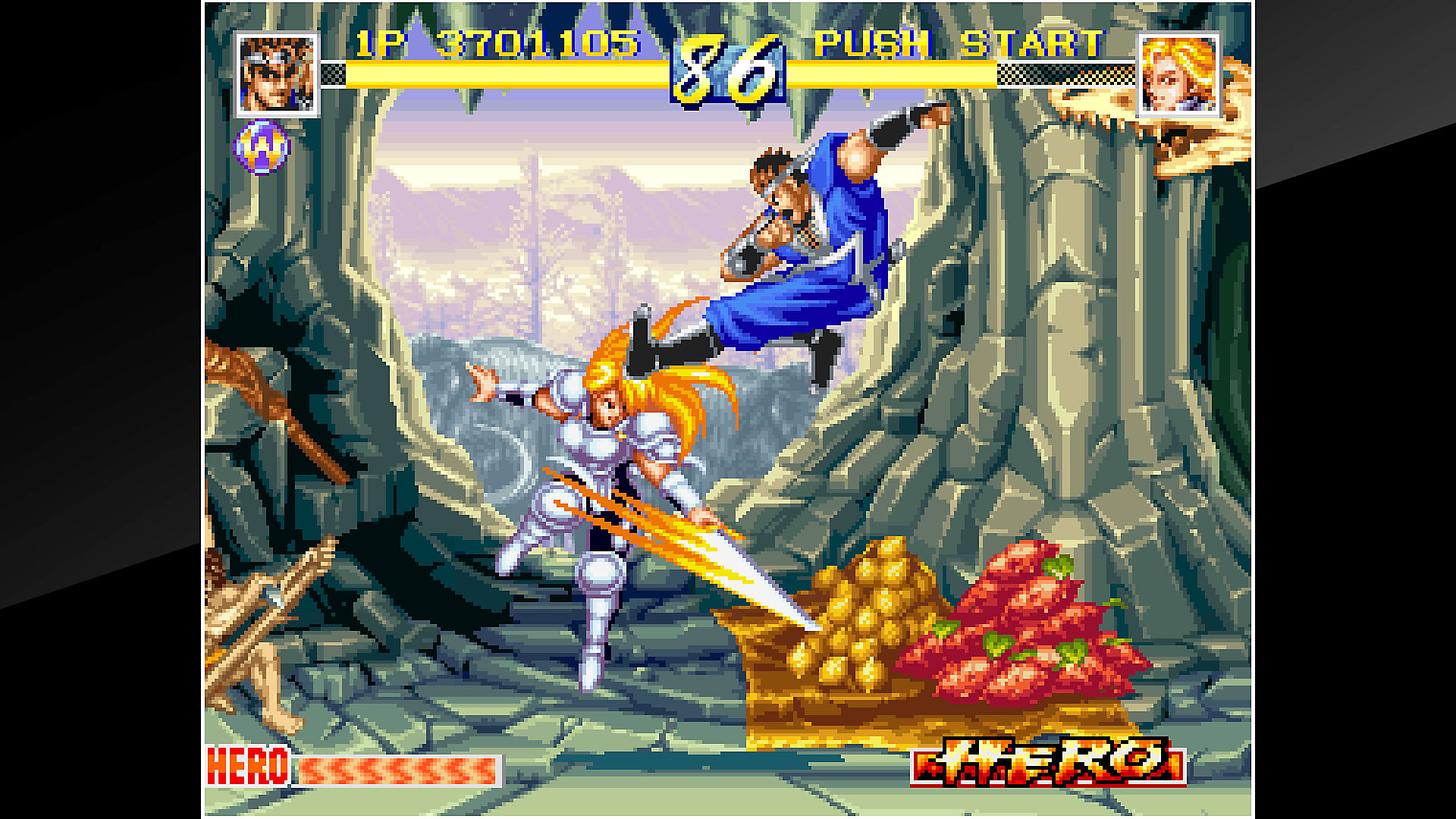 Gameplay de ACA NEOGEO WORLD HEROES PERFECT