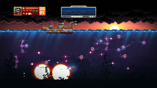 AQUA KITTY - Milk Mine Defender DX Screenshot 1