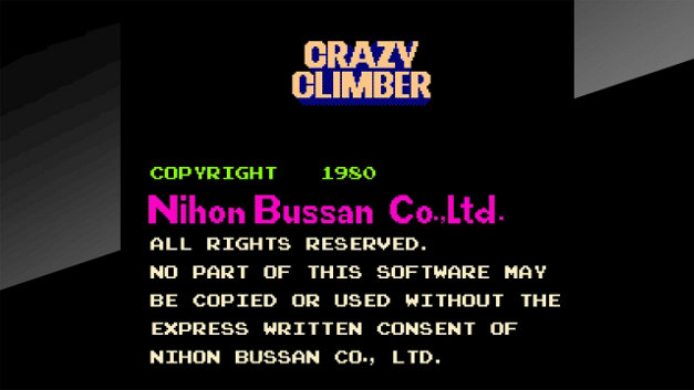 Arcade Archives CRAZY CLIMBER Screenshot 1