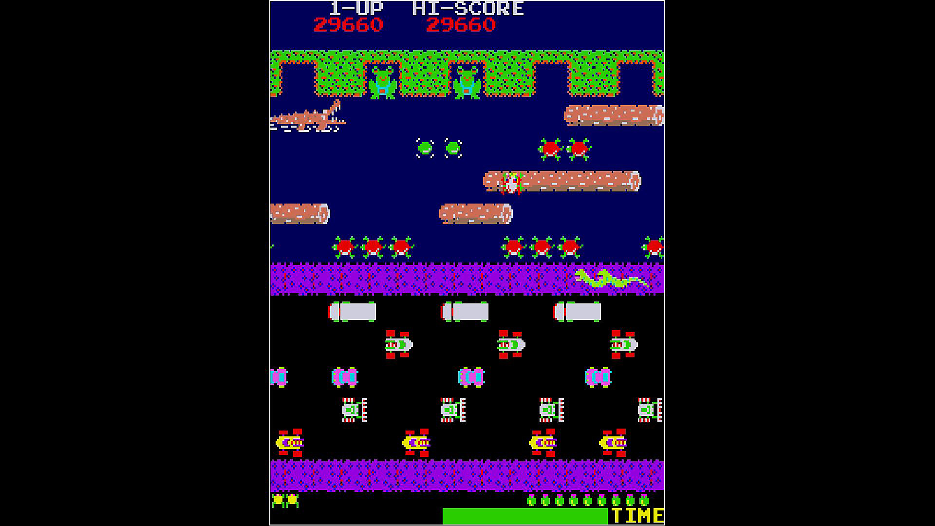 Arcade Archives FROGGER en acción