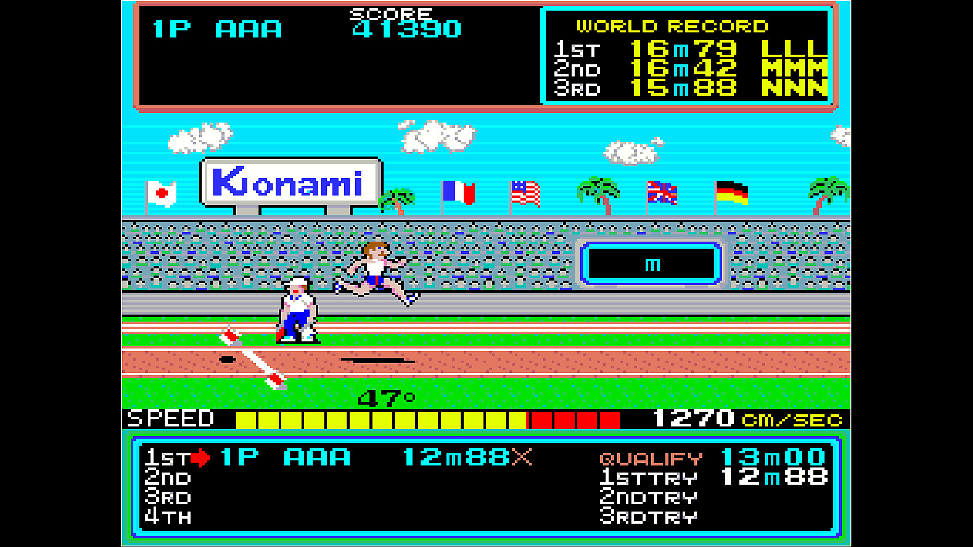 Arcade Archives HYPER SPORTS en acción