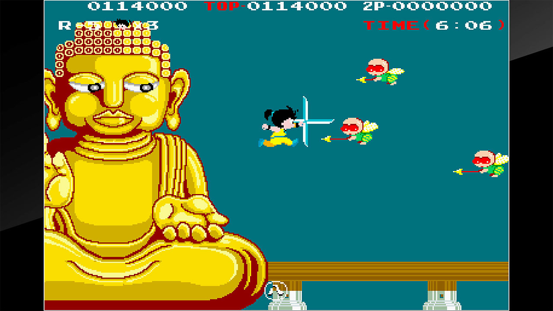 Gameplay de Arcade Archives Kid Niki Radical Ninja