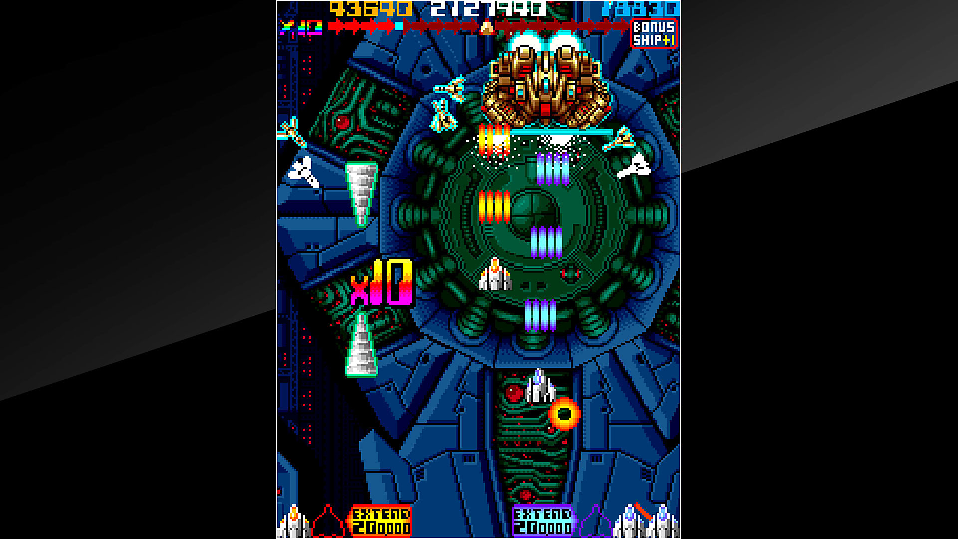 Gameplay de Arcade Archives OMEGA FIGHTER