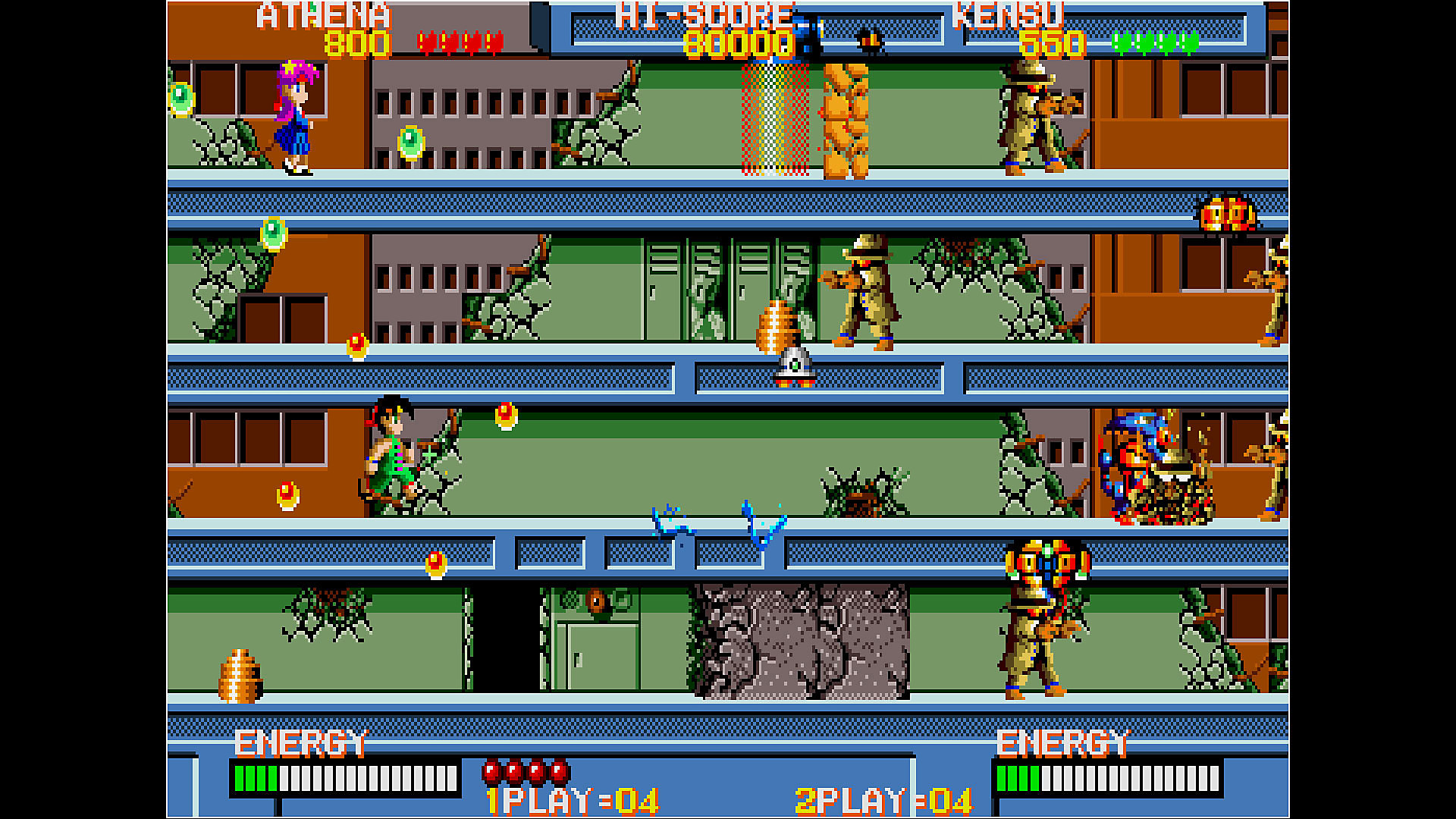Gameplay de Arcade Archives PSYCHO SOLDIER
