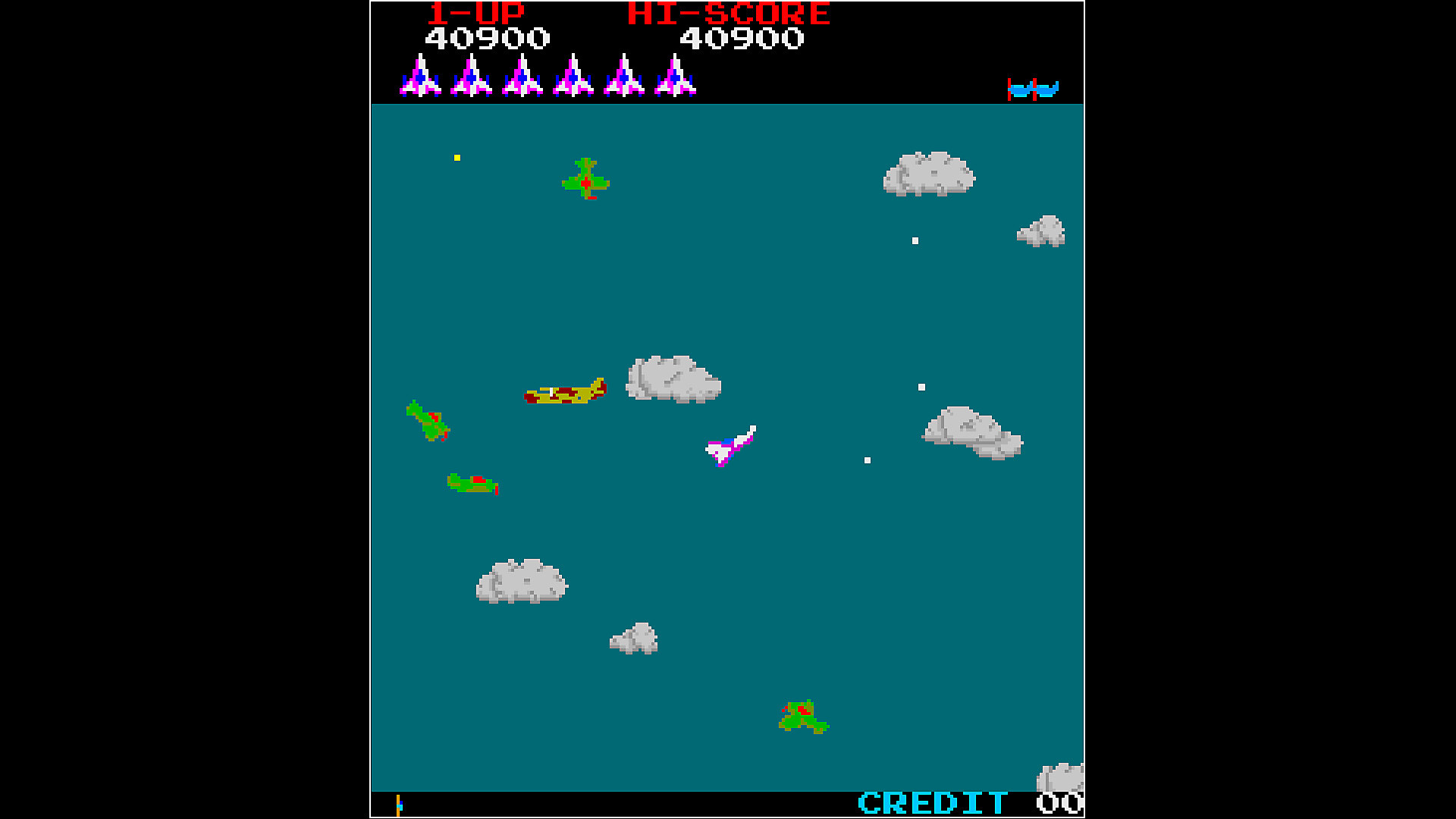 Gameplay de Arcade Archives TIME PILOT