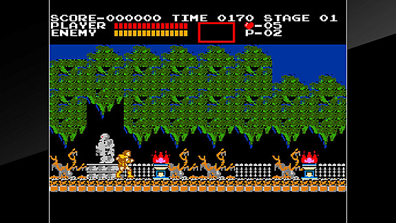 Jeu Arcade Archives VS. CASTLEVANIA - Screenshot INDEX