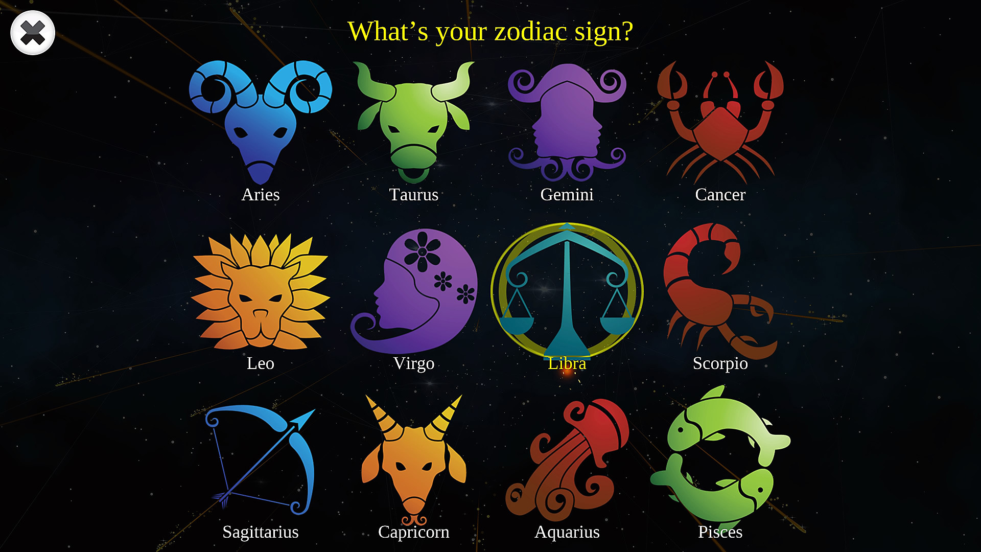 Choose your zodiac
