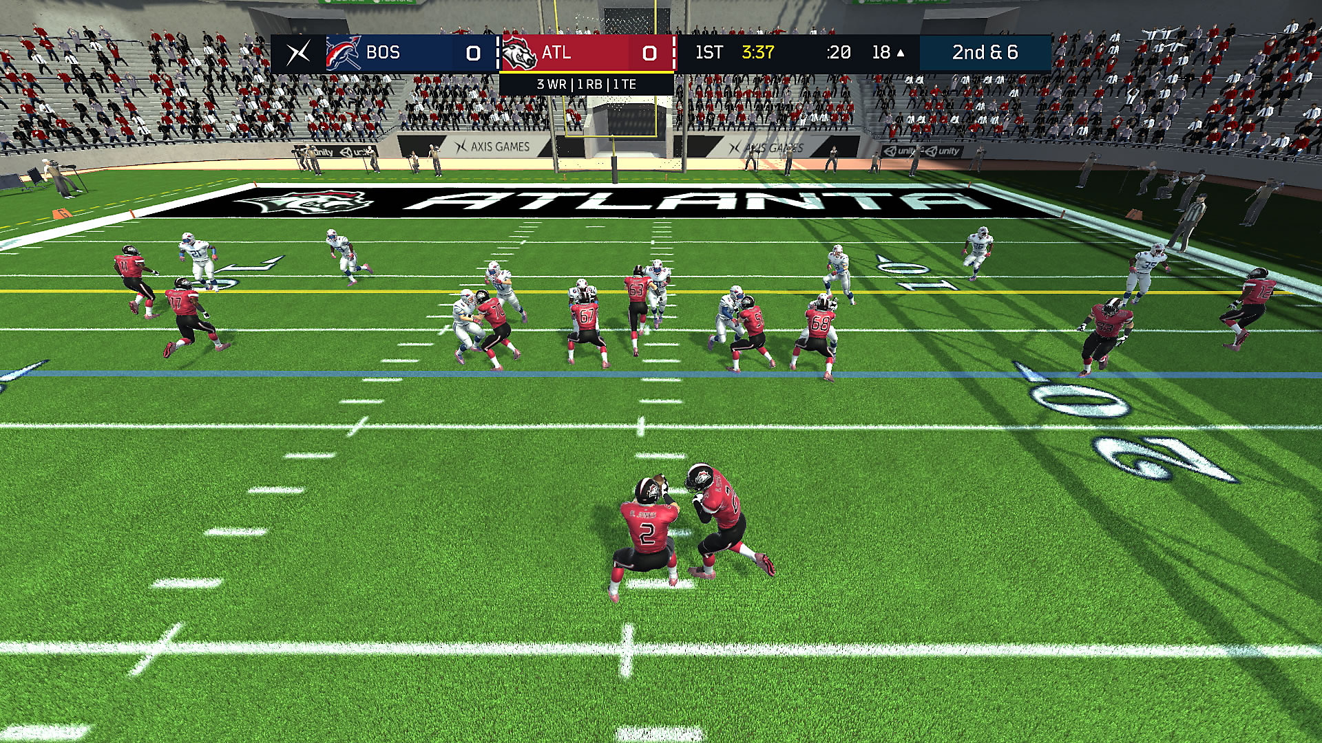 Gameplay de Axis Football 2018