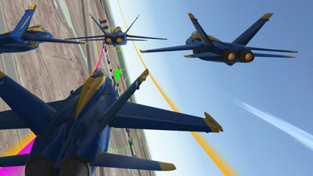 Blue Angels Aerobatic Flight Simulator Trailer Screenshot
