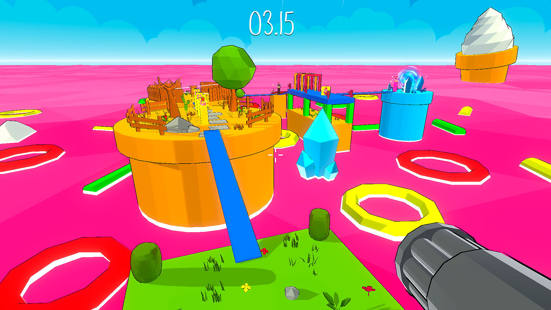 Gameplay de Bouncy Bullets