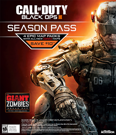 The Call Of DutyR Black Ops III Season Pass Delivers 4 Epic DLC Map Packs In 2016 With All New Multiplayer Content Including Re Imagined Fan Favourite
