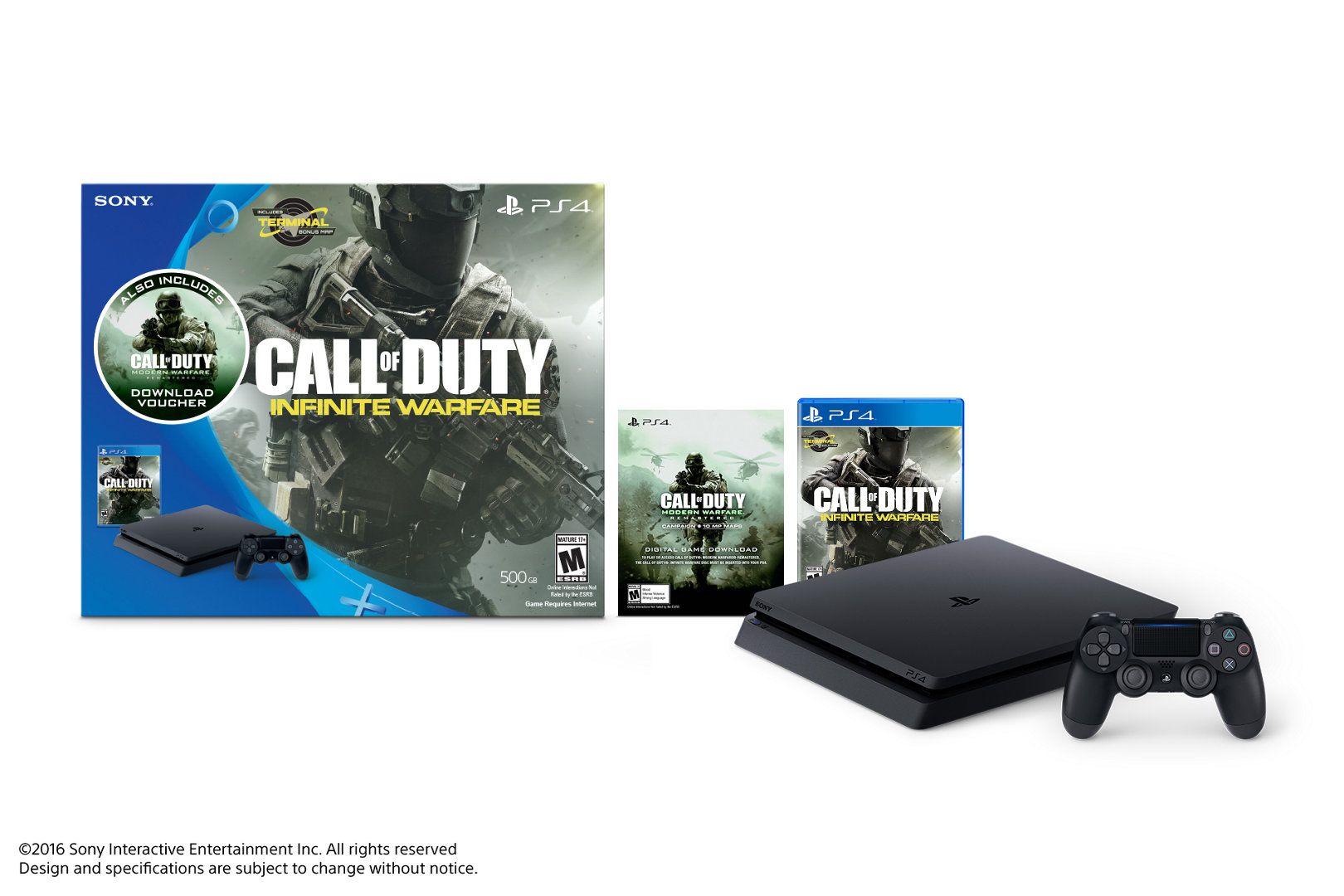 Call Of Duty Infinite Warfare Ps4 Bundle Playstation Sony 4 Slim 1 Tb Cuh 2016b Black Ops Iii Playstation4 Buy Now