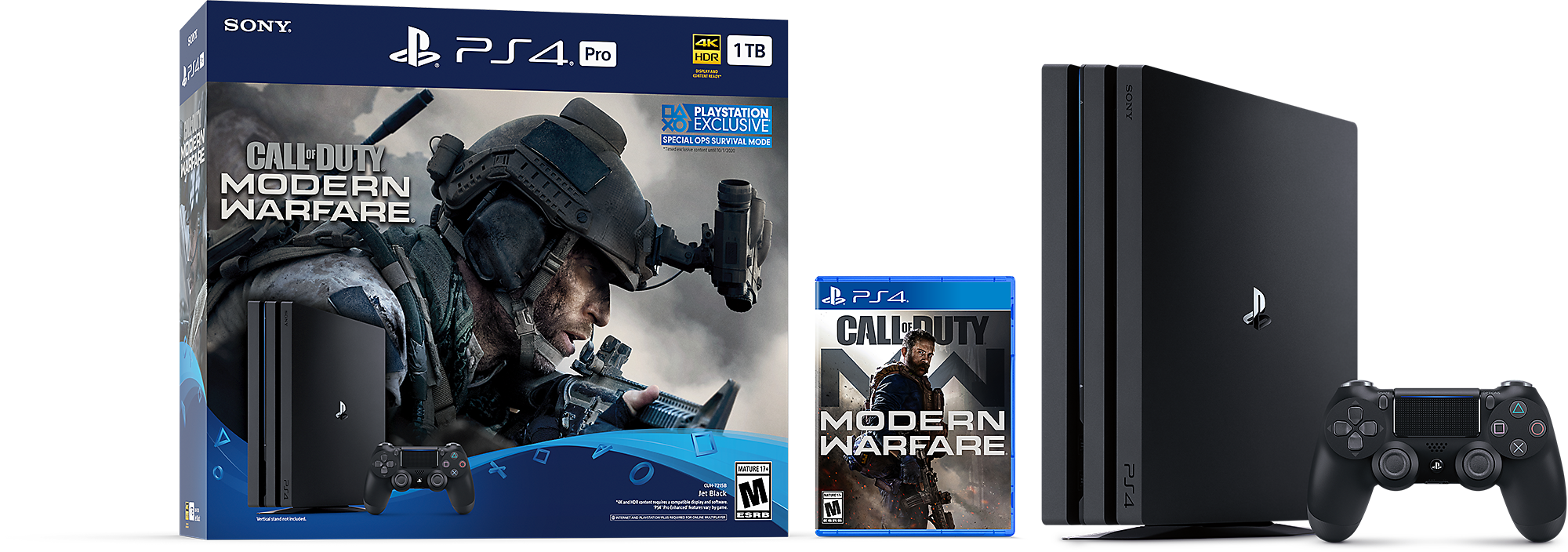 Call of Duty: Modern Warfare PS4 Pro Bundle Product Shot