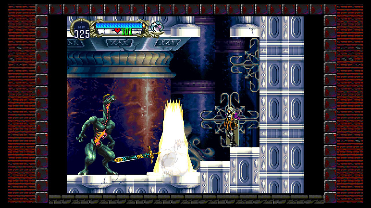 Pantalla del gameplay de Symphony of the Night