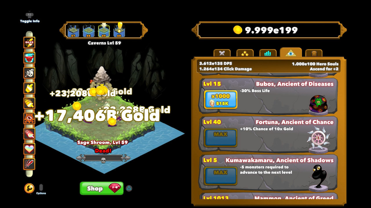 Clicker Heroes Game | PS4 - PlayStation