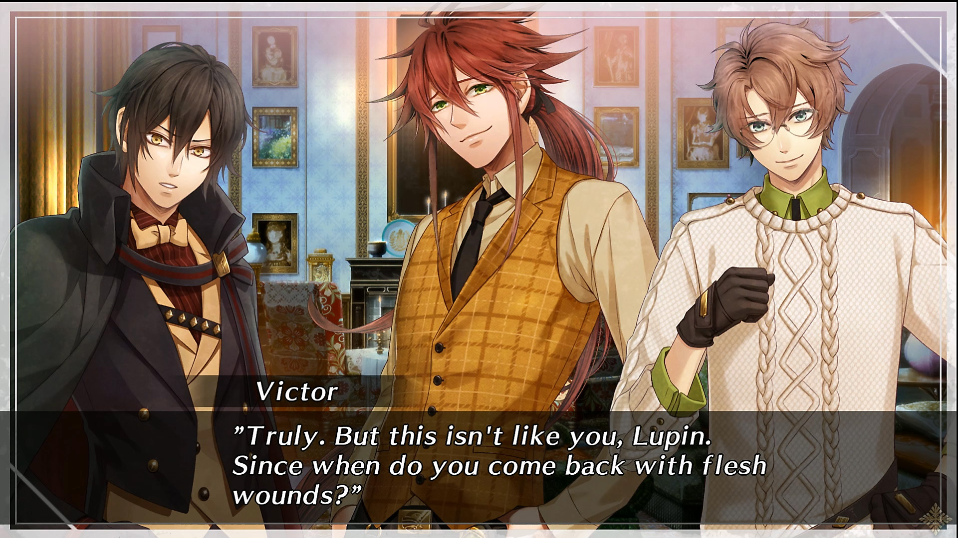 Écran de dialogue de Code: Realize ~Wintertide Miracles~