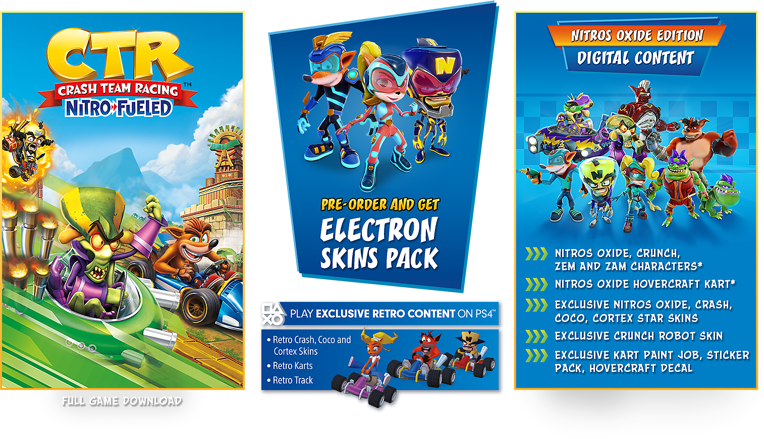 Crash Team Racing Nitro-Fueled Nitros Oxide Game Edition Contents