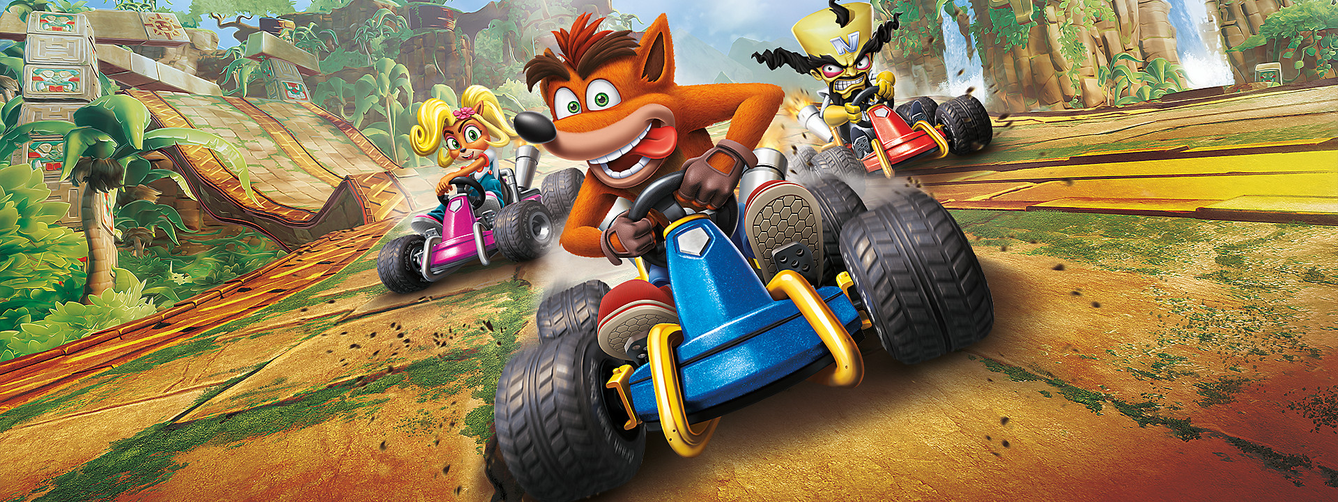 Estandarte del juego Crash Team Racing Nitro-Fueled