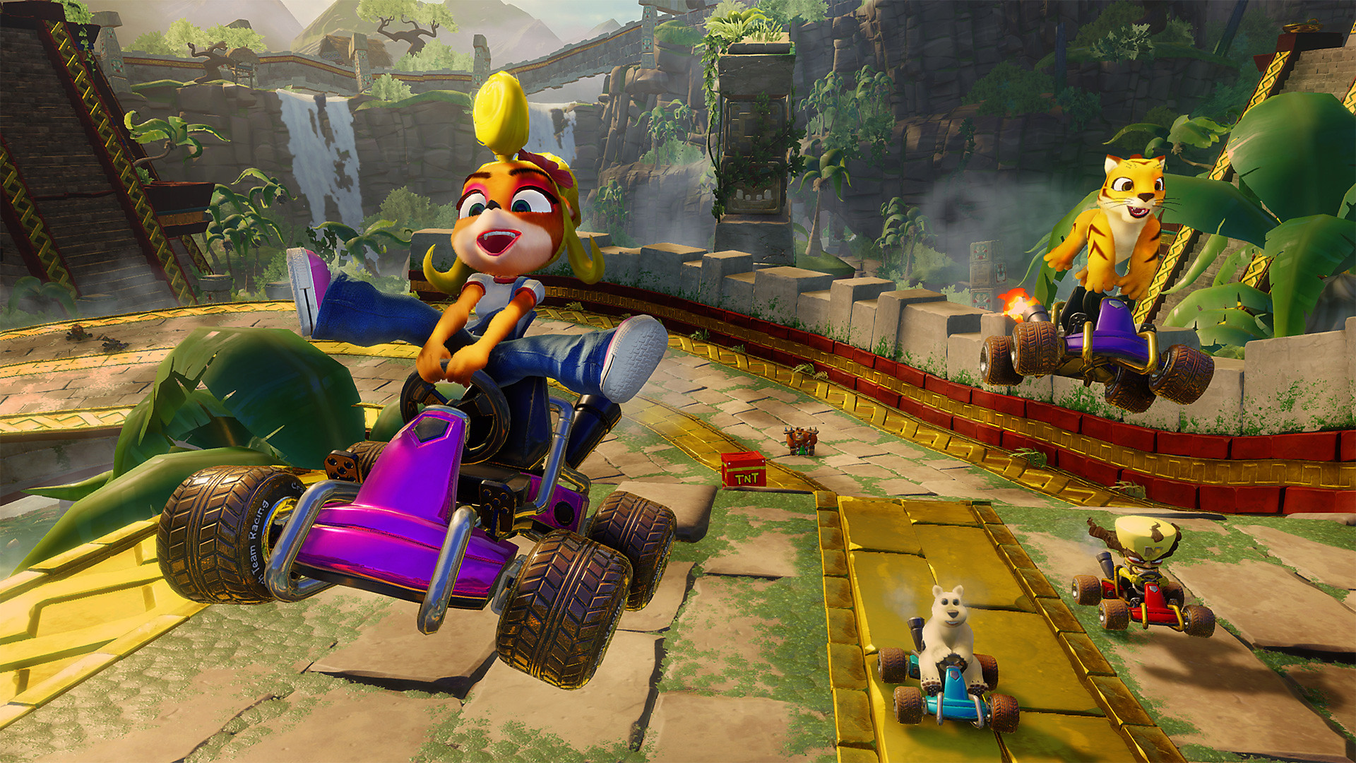 Crash Team Racing Nitro-Fueled Screenshot - Flying on a car