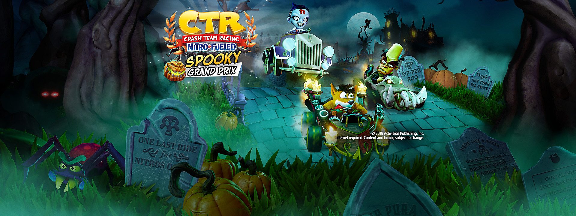 Crash Team Racing Nitro-Fueled - Spooky Grand Prix Now Available