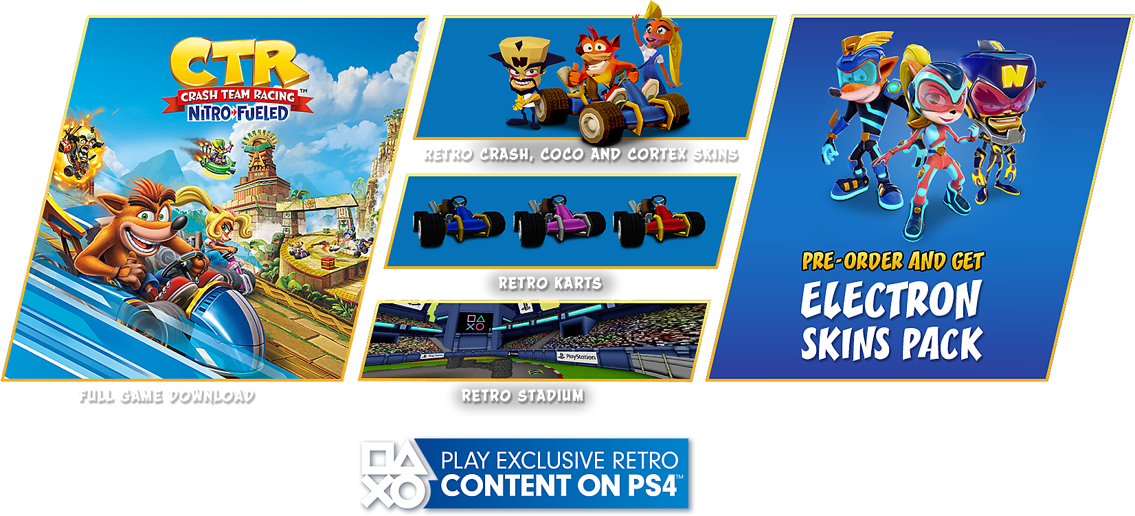 Crash Team Racing Nitro-Fueled Standard Game Edition Contents