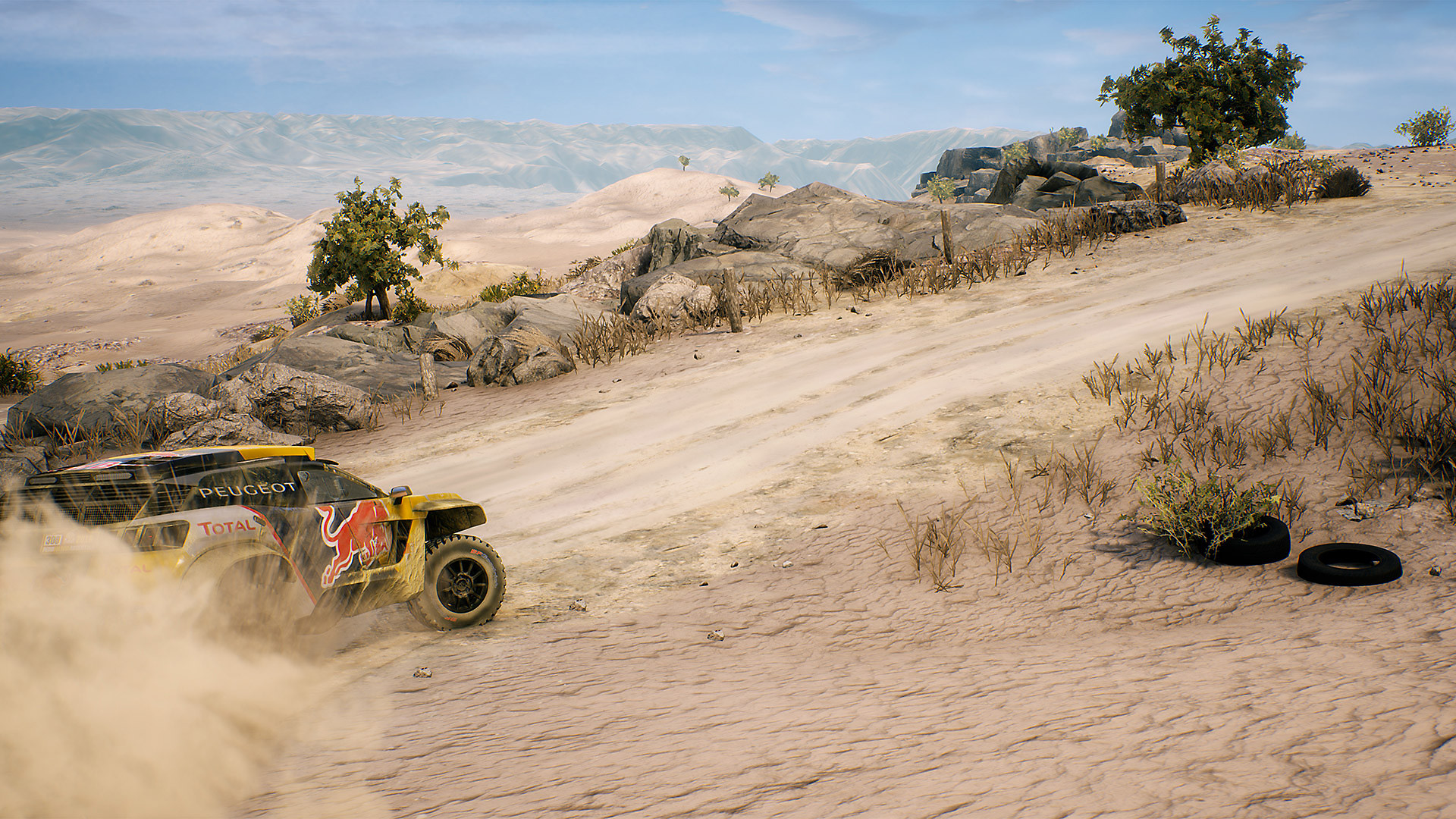 dakar 18 gameplay screen