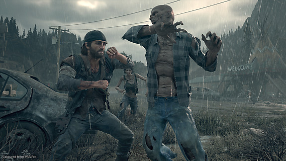 Days Gone - Deacon in hand to hand combat with a freaker