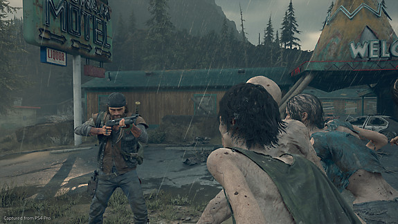 Days Gone - Deacon preparing for incoming freakers