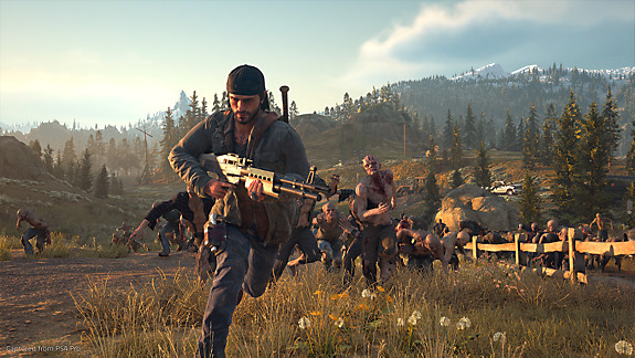 Days Gone - Deacon running from freaker horde