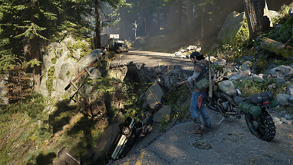 Days Gone - Deacon next to his bike
