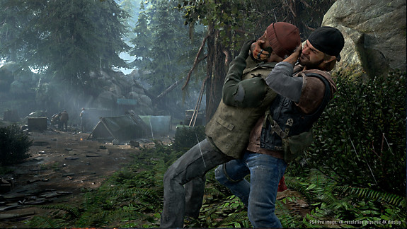 Days Gone - Deacon taking down a human enemy