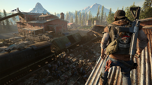 Days Gone - Deacon looking out from a rooftop