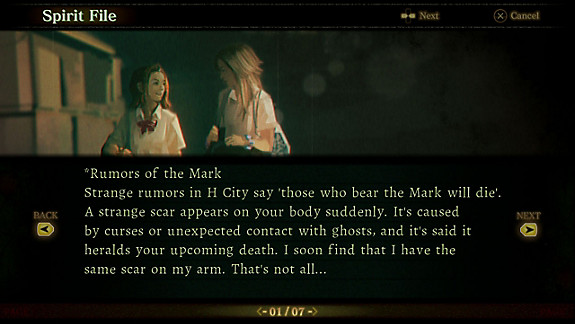 Death Mark - Screenshot INDEX