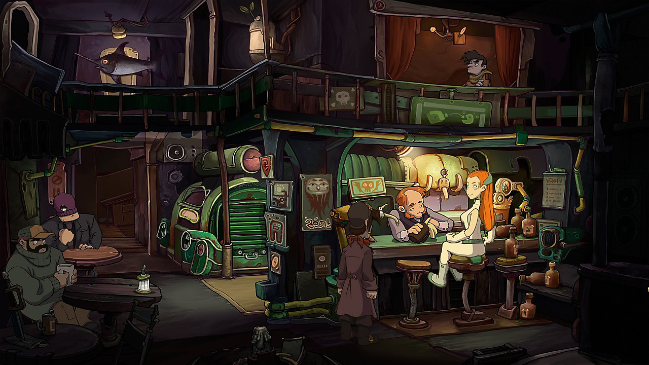Escena en un bar de Deponia Collection