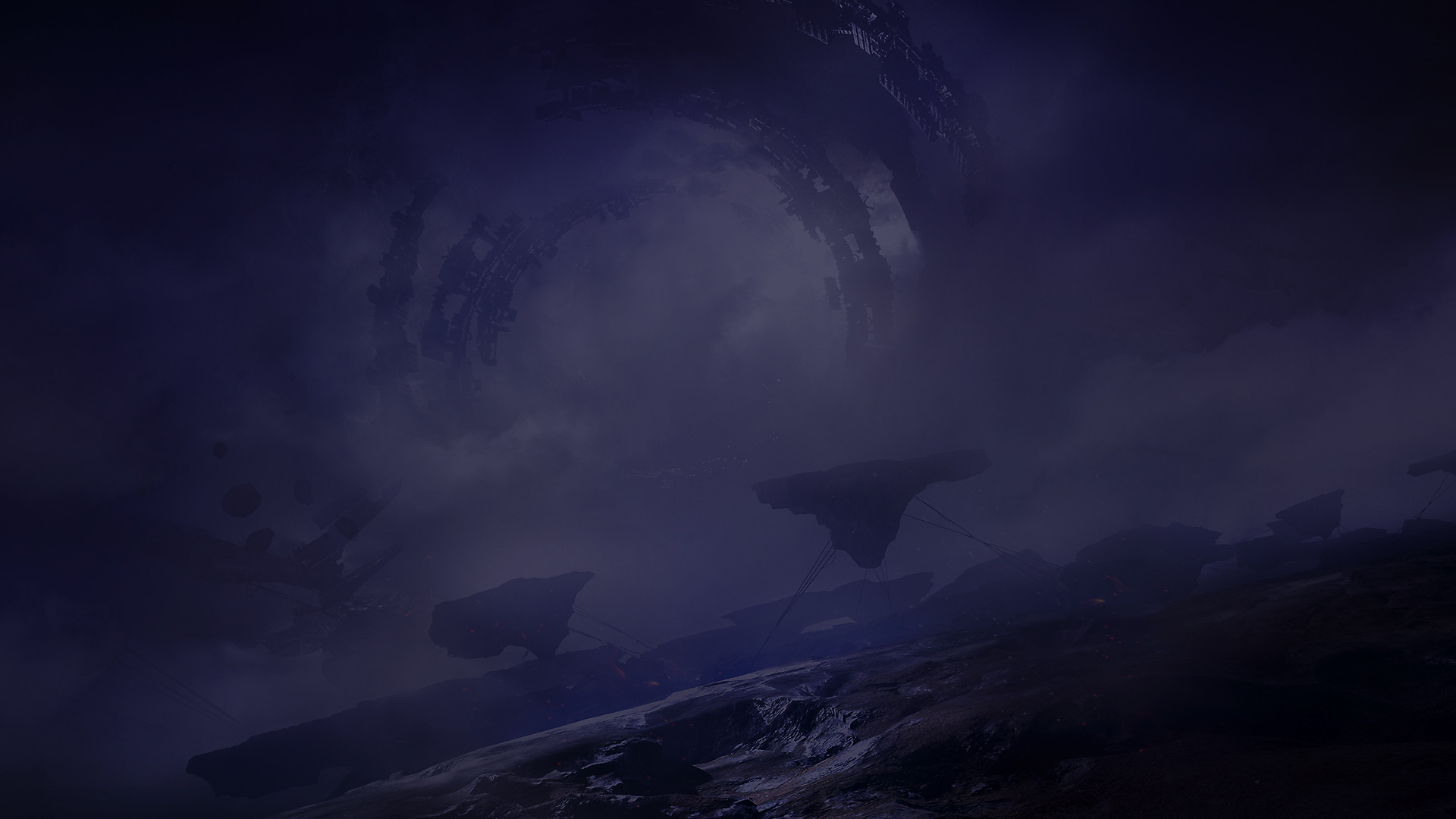 Destiny 2 Purple Night Background Image