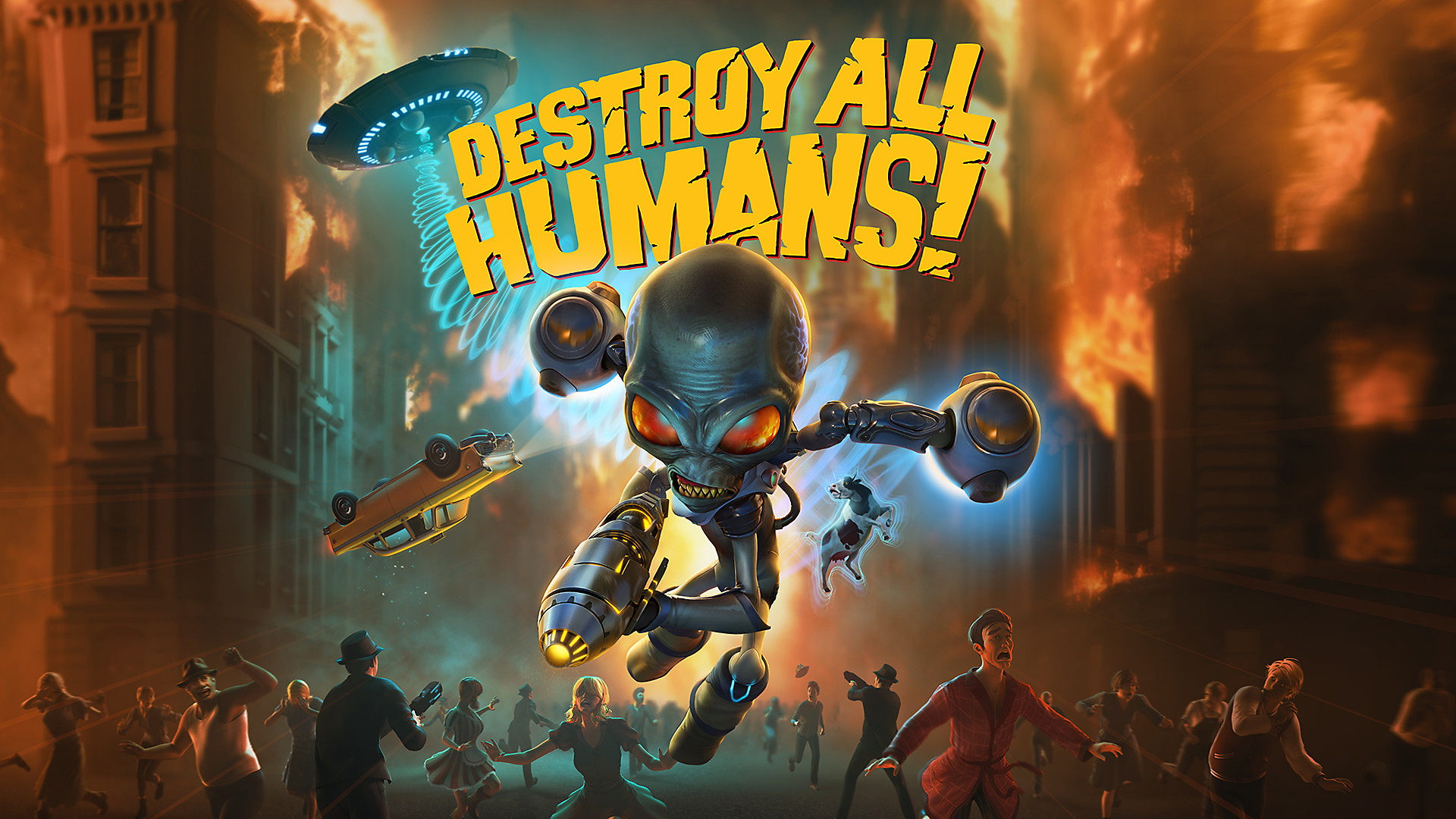 Destroy All Humans!(デストロイ オール ヒューマンズ!) Decorative Background