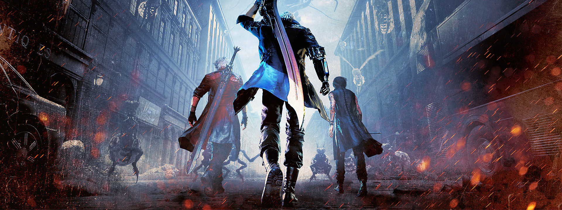 Fundo com herói de Devil May Cry 5