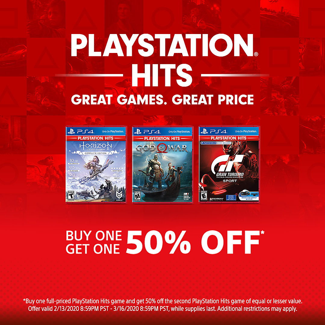 PlayStation Direct - Buy One Get One 50% Off