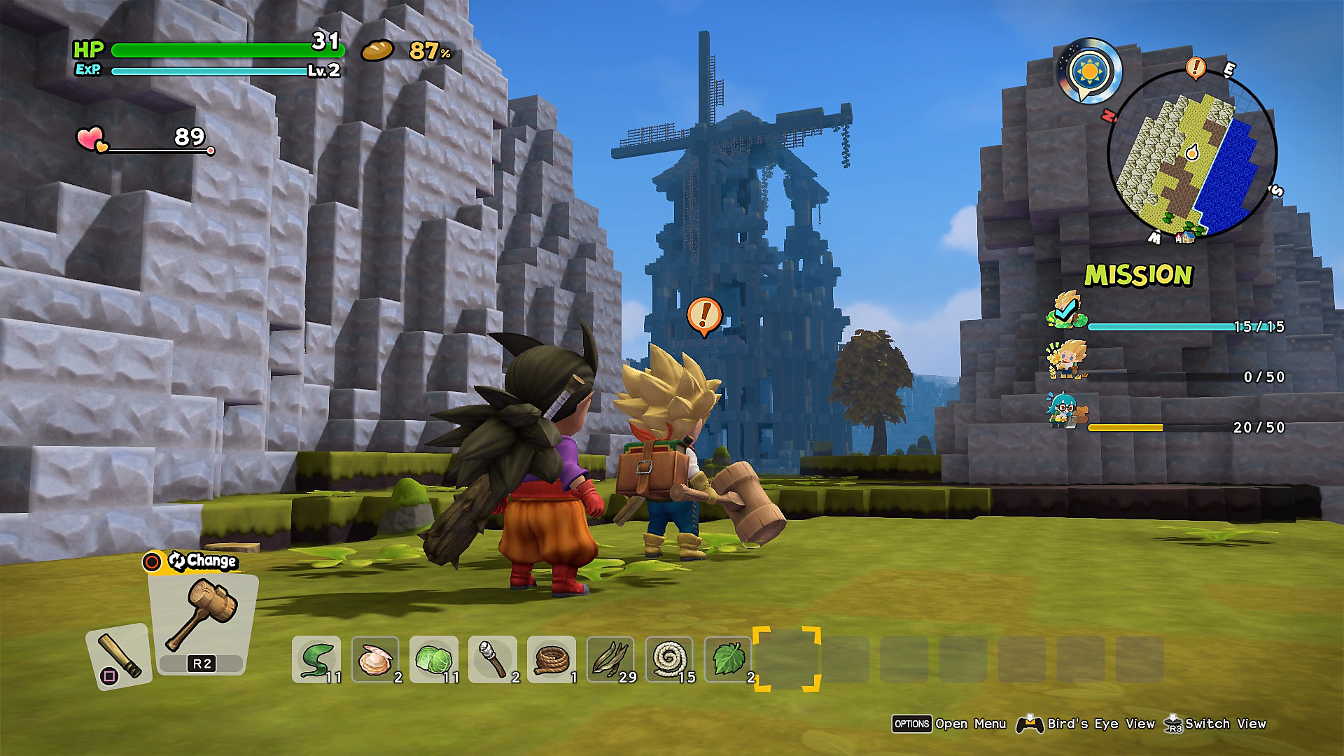 Dragon Quest Builders 2: captura de pantalla de Información general del juego