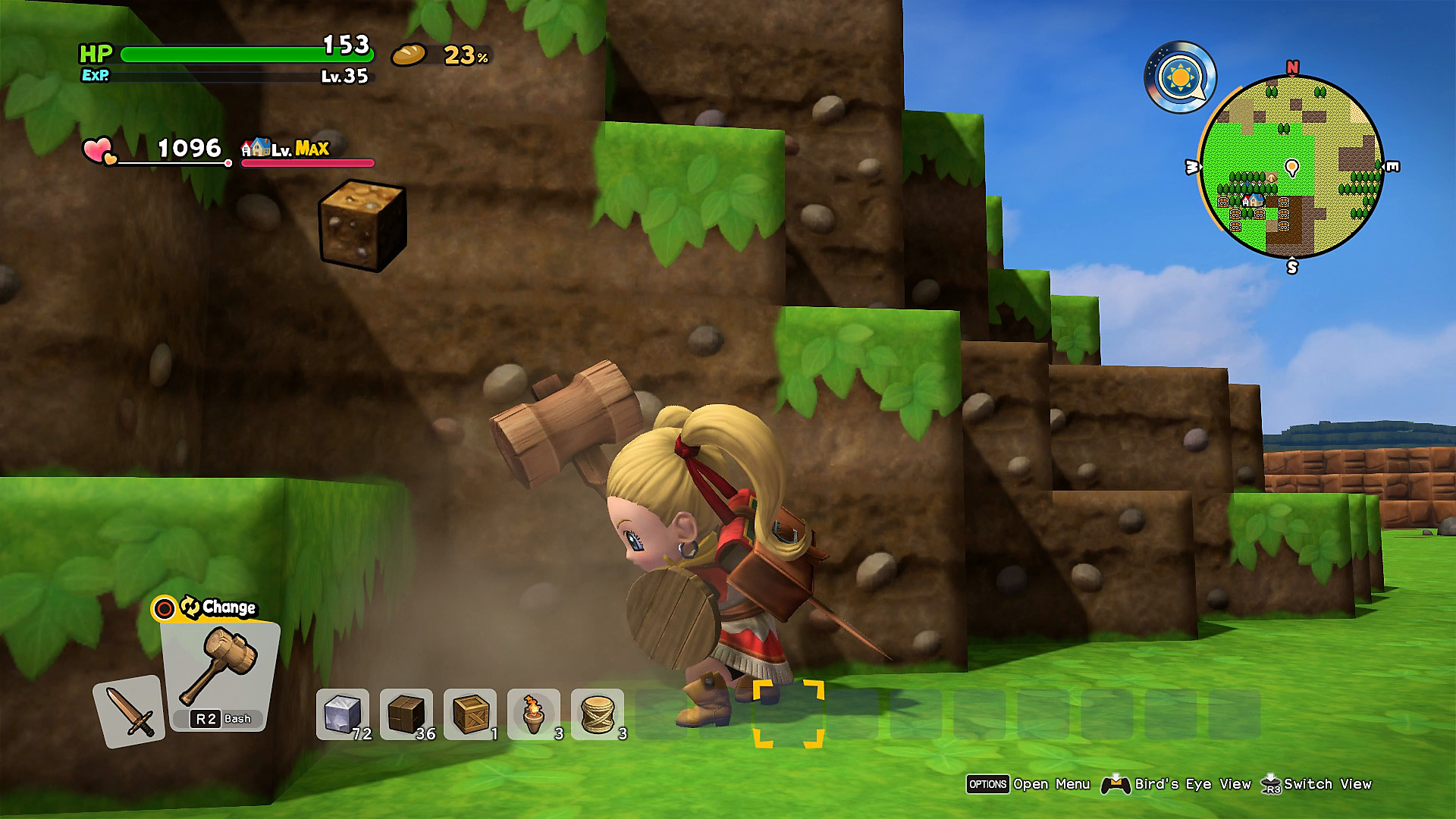 Dragon Quest Builders 2: captura de pantalla 1 de Detalles del gameplay