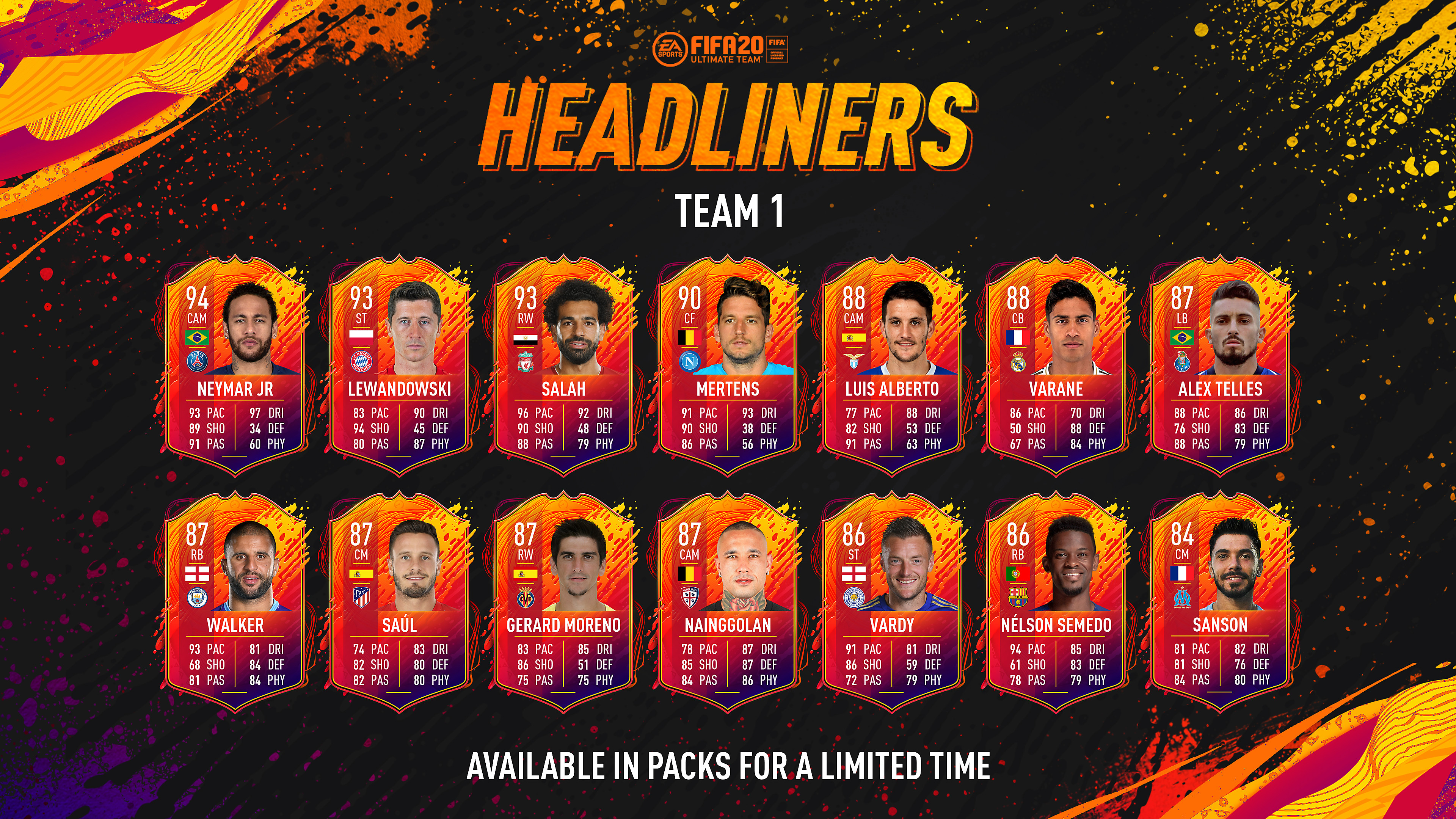 FIFA 20 - Headliners: Available in packs for a limited time
