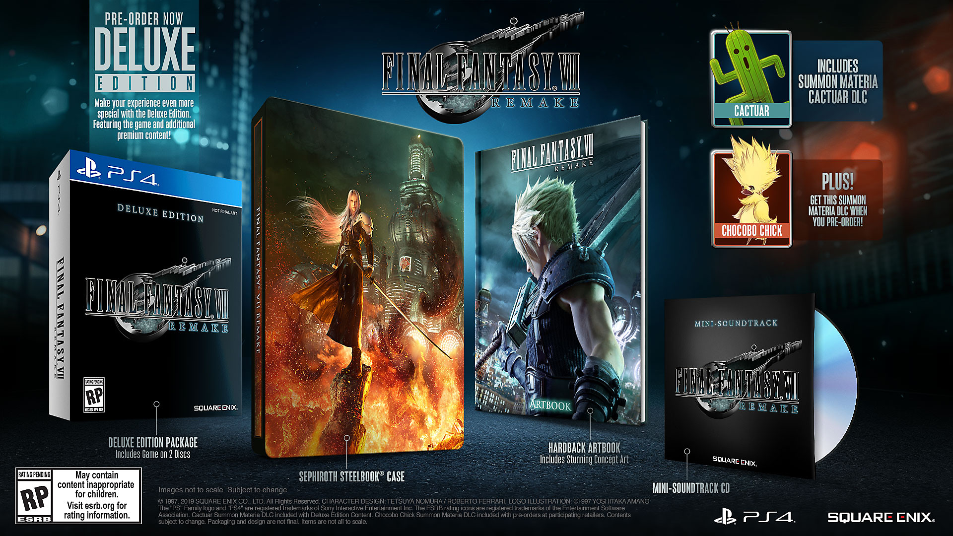 FINAL FANTASY VII REMAKE - Arte de marketing da Deluxe Edition