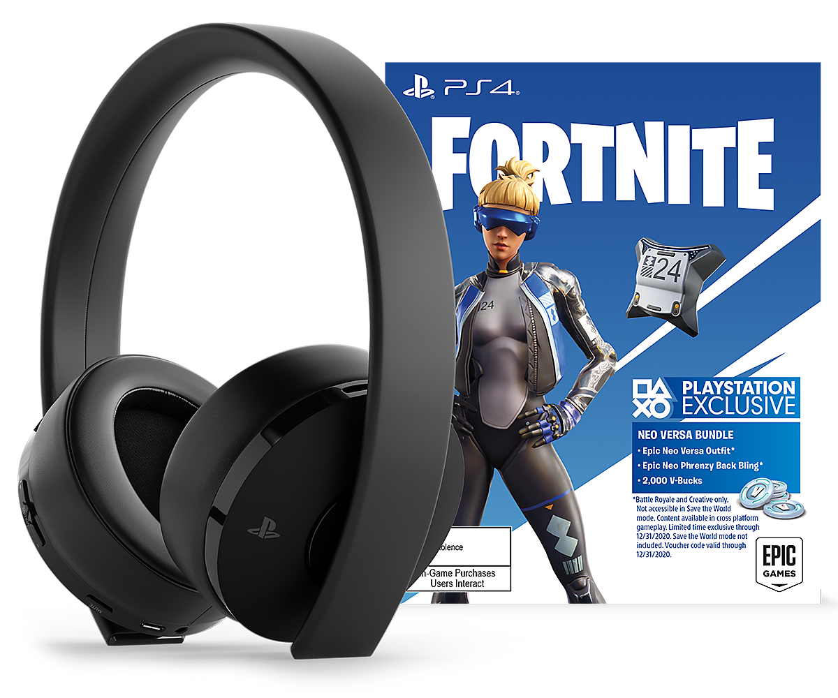 Black Fortnite Neo Versa Gold Wireless Headset image