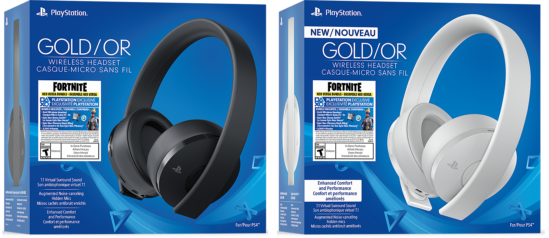 Gold Wireless Headset with Fortnite Bundle Box Art